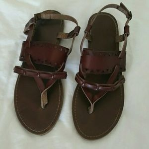 Mossimo Reddish Brown Tribal Faux Leather Sandals